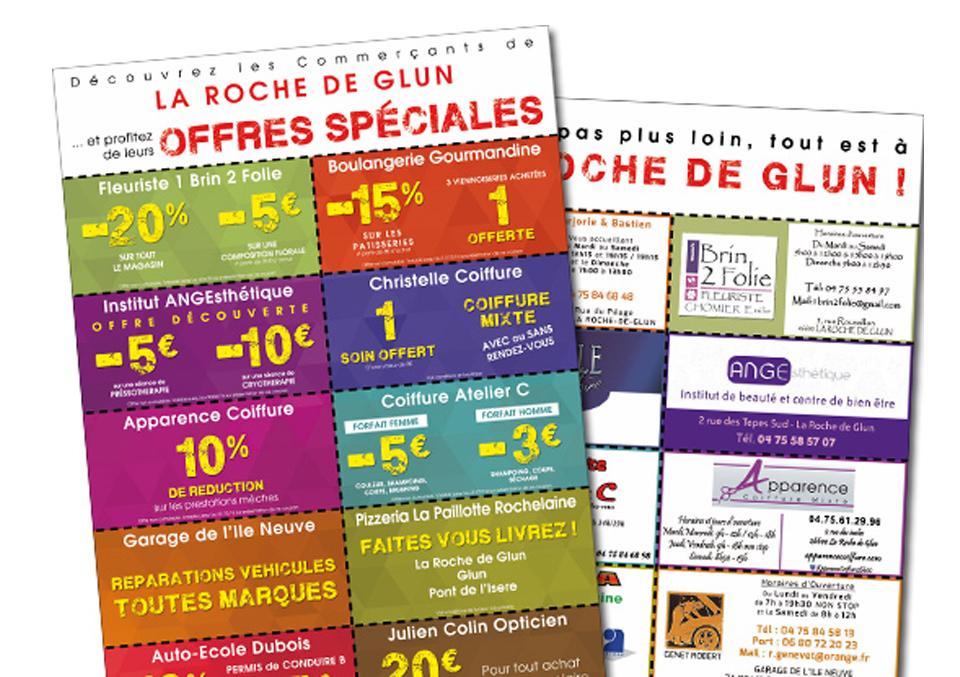 Flyer Commerçants de La Roche de Glun